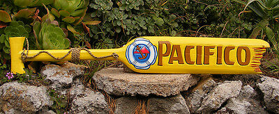 Pacifico Beer Wood Paddle Beer Sign Nautical Tiki Bar Sign Pub Man Cave 39""