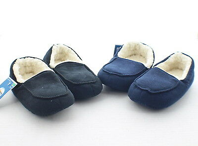 Target CIRCO Youth Boys Girls Fleece Lined Slippers Shoes Black Navy S M L