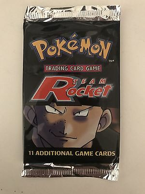 Team Rocket Giovanni Pokemon Card Booster Pack -New & Sealed Unweighed Base WOTC
