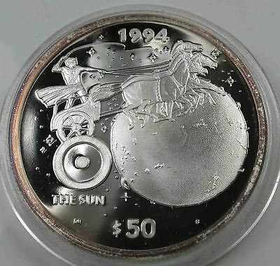 Marshall Islands 50 Dollars 1994 Sonne PP 999 Silber 1 OZ Unze [2938