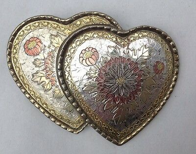 Western Double Heart Scroll Belt Buckle Vintage American Retro Classic Retro