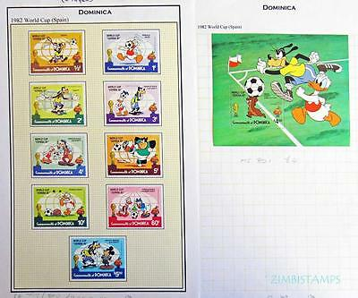 Dominica 1982 Football World Cup M/mint Set & Minisheet **see Scans**