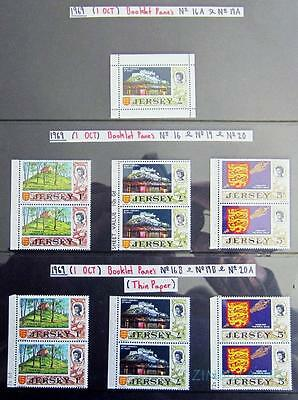 Jersey 1969 Stamps From Booklet Panes Mnh **see Scans**