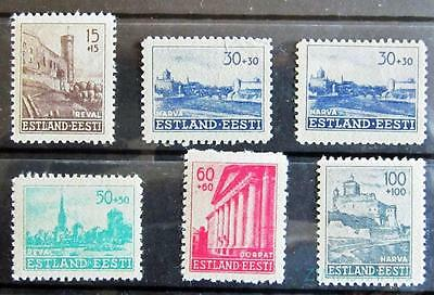 Estonia 1941 German Occup. Reconstruction Fund M/mint Part Set  *see Scan*