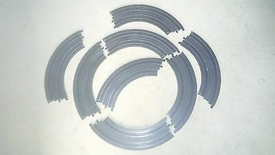 Micro Scalextric 1:64 Track Spares L7555 1/4 Curve 8 Pieces
