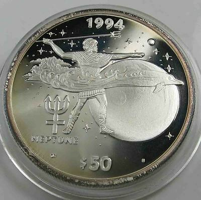 Marshall Islands 50 Dollars 1994 Neptun PP 999 Silber 1 OZ Unze [2944