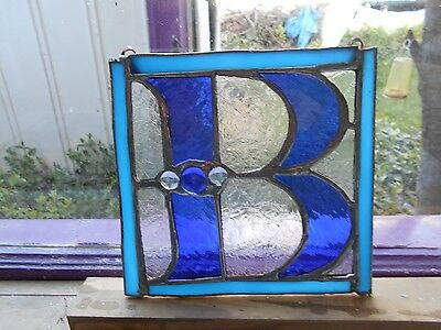"Stained Glass Window Panel Suncatcher  ""b"""