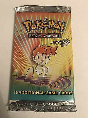 Gym Heroes Misty Pokemon Card Booster Pack - New & Sealed Unweighed Base WOTC