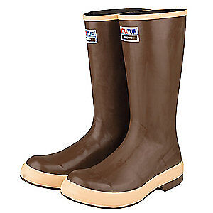 XTRATUF Knee Boots,Neoprene,10D,PR, 22272G/10, Brown