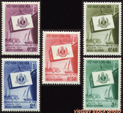 SOUTH VIETNAM 1957 9th Colombo Plan Conference Saigon 68-72 Hội Nghị Colombo MNH