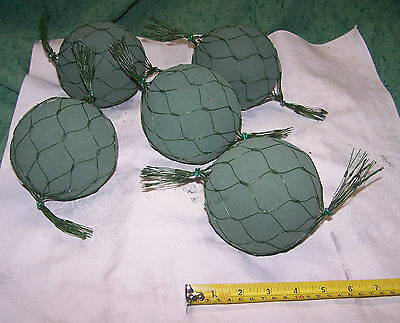 """5 Oasis 4 1/2"""" Netted Spheres Deluxe Floral Foam Design Wedding Event Flowers"""