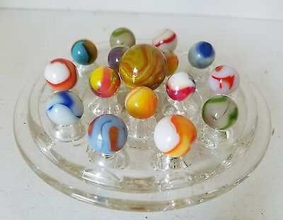 Marbles: Lot Of 16 Antique Handmade Swirls ???
