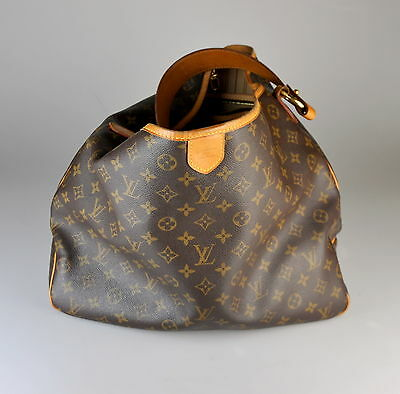 100% Authentic Louis Vuitton Delightful MM Monogram Large Handbag Purse Tote