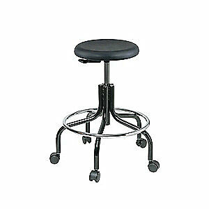 BEVCO Round Stool,No Backrest,19 to 24 in., 3200-P, Black