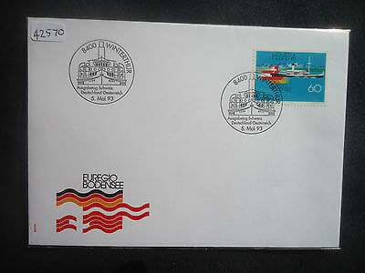Switzerland 1993 Lake Constance First Day Cover