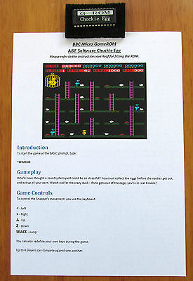 Acorn Bbc Micro Game Rom - Chuckie Egg - Instant Gameplay