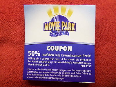 movie park eintritts coupon 50 2 f r 1 pers bis zu 4 pers bis 78 sparen eur 1 00. Black Bedroom Furniture Sets. Home Design Ideas