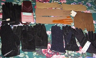 Vintage ladies some  Leather and other gloves. Isotona