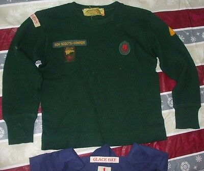 Boy Scout Canada 1st St. Andrews Official Cub Jersey sweater vintage badges