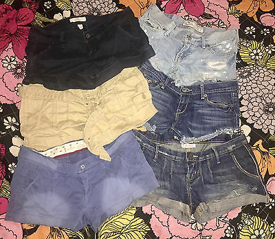 Hollister Shorts Lot of 5 Assorted Styles Juniors Size 1