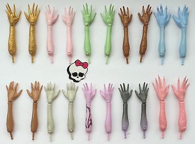 Monster High Doll Bundle Spares 10x Pairs Limbs Fore-arms+hands