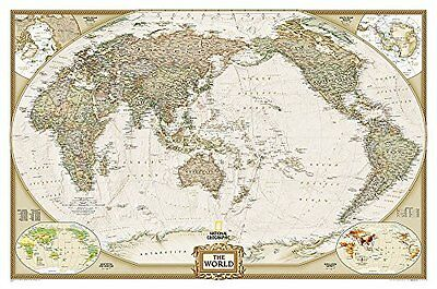 World Book by National Geographic Maps Sheet map rolled