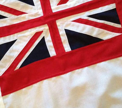 White ensign flag, SEWN, FREE BAG, direct from manufacturer, buy social