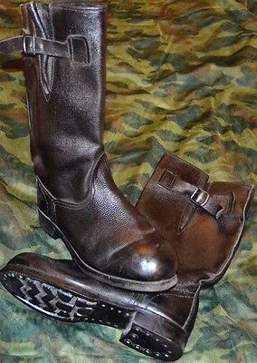 Soviet Russian Army Military Jack Boots with belts size 45, 46 (US 12, 13)