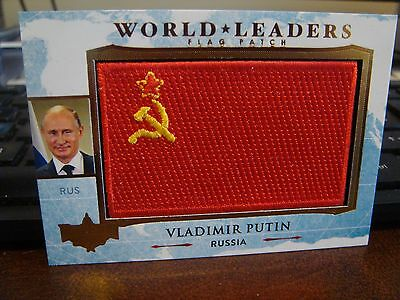 2017 Decision Series 2 UPDATE PUTIN World Leaders Flag Patch RED RARE PULL LOOK!