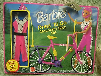 "Barbie doll: ""Barbie Dress 'N Go Mountain Bike Set'' -; 1992 Mattel  LC-475"