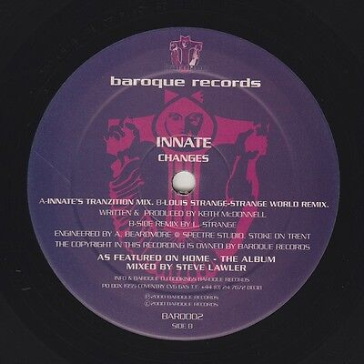 "Innate ‎– Changes 12"" Vinyl 2000 Baroque Records ‎– BARQ002"