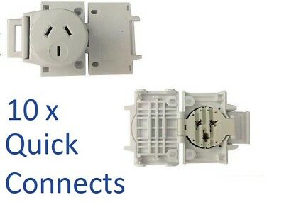 10 x Quick Connect Plug Bases For Downlights Surface Socket