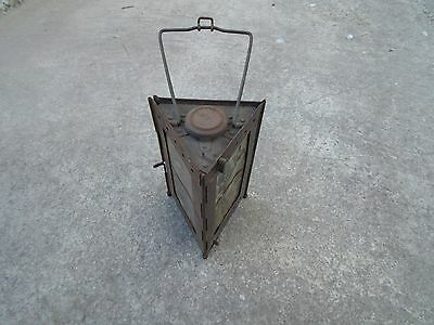 WW1 Vintage French Antique World War 1 Folding Trench Lamp