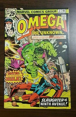 Omega the Unknown #2 (May 1976, Marvel) HIGH GRADE! RARE HULK X-OVER