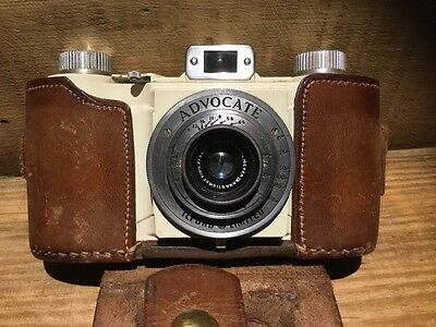ilford advocate vintage camera leather case
