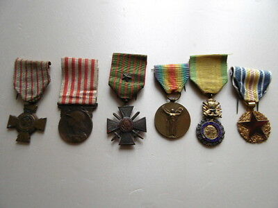 Original Ww1 French Medal Group 6 Medals 1914 1918