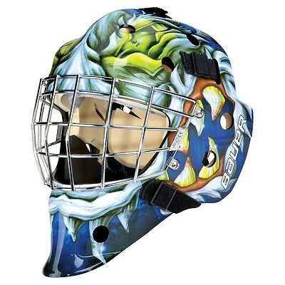 Bauer NME 3 Designs Mad Dog Junior Goalie Hockey Helmet Mask! BNIB, Custom paint