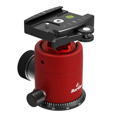 Markins Camera Tripod Ball Head Q10i-Q Red w/ Quick Lever Type Quick Shoe