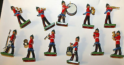Britains Royal Marine Band 1990 Set of 10  all metal Soldiers - Excellent Cond