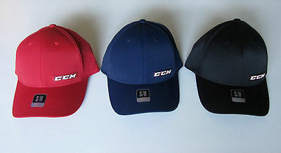 CCM Tactel Full Flex Hockey Hat! Fitted Cap SR All Sizes S M L XL Navy Red Black
