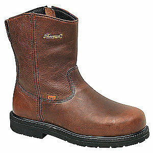 THOROGOOD SHOES Wellington Boots,10-1/2,W,Brown,Steel,PR, 804-4132, Brown