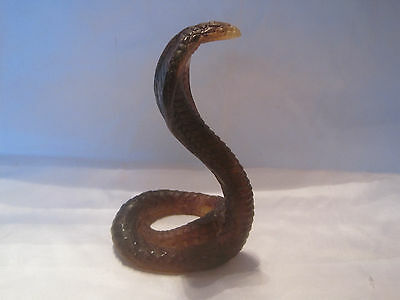 Daum France Pate de Verre Brown Cobra--Signed--MIB