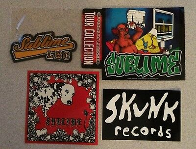 * Sublime - Official Bassball Patch  + 5 Stickers - Lou Dog - Wrong Way - Skunk