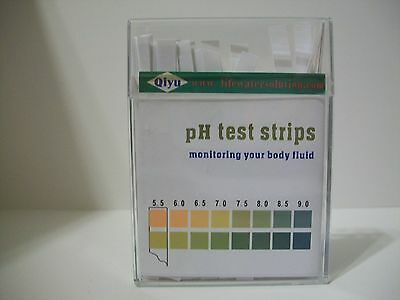 100 pH TEST STRIPS FOR URINE AND SALIVA