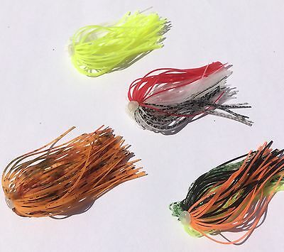 Lot of 20 Spinnerbait Quick Skirts Mix Pack 5 Per Colour Pictured