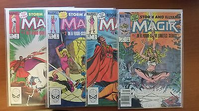 Magik #1,2,3,4 (Storm And Illyana) Nm-/nm 1983 Claremont Buscema