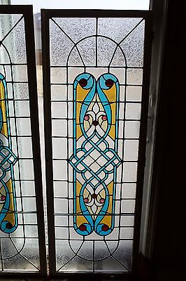 antique stained glass window, leaded, no cracks. Quantity 1 window