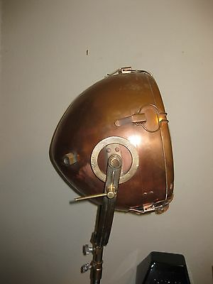 Vintage Nautical Copper Spotlight by General Electric GE Novalux Projector Light