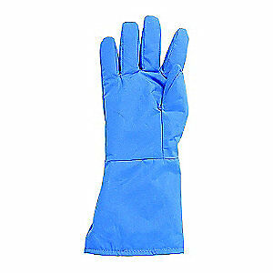 Nylon Taslan and PTFE Cryogenic Glove,Size 14 to 15 In.,M,PR, G99CRBERMDMA, Blue
