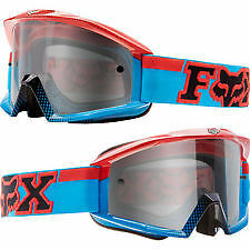 Fox Main MX 180 Race Goggles Black/Blue Adult from Westside Motorcycles